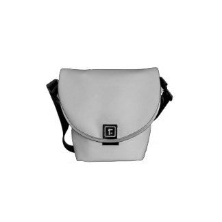 Black and White Mermaid Pastel Pattern Courier Bag