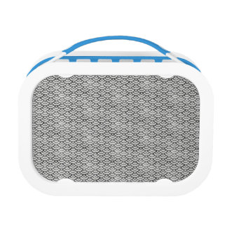 Black and White Mermaid Pastel Pattern Lunch Box