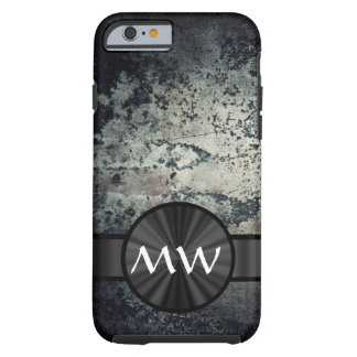 Black and white metallic rust tough iPhone 6 case
