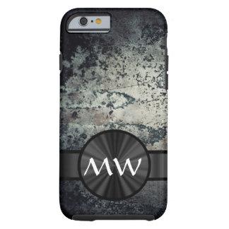 Black and white metallic rust tough iPhone 6 case