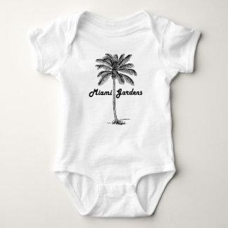 Black and White Miami Gardens & Palm design Baby Bodysuit