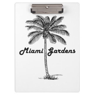 Black and White Miami Gardens & Palm design Clipboards