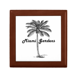 Black and White Miami Gardens & Palm design Gift Box