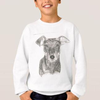 Black and White Miniature Pinscher Sketch Sweatshirt