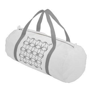 black and white minimal 02 gym duffel bag