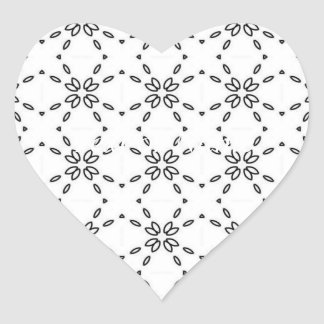 black and white minimal 02 heart sticker