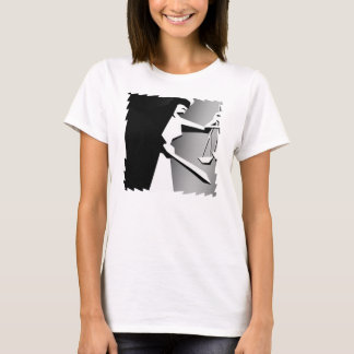 Black and White Minimalist Justice T-Shirt