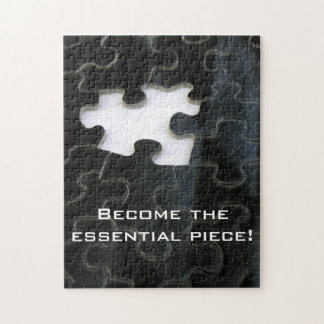 Black and White Missing Puzzle Piece Puzzle