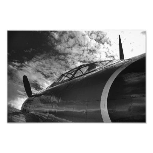 Black and White: Mitsubishi A6M Zero Photograph