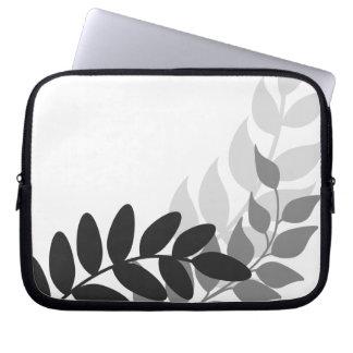 Black and White Mod Vines Laptop Sleeve