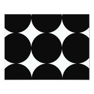 "Black and White Modern Polka Dots Weddin RSVP card 4.25"" X 5.5"" Invitation Card"