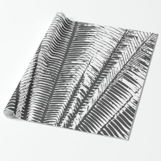 Black and White Modern Tropical Palm Fronds