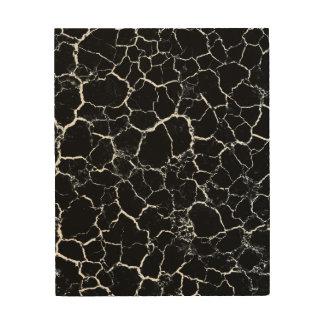 Black and White Modern Wood Print