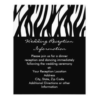 Black and White Modernist Stripe Flyer