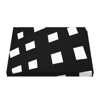 Black and White Monochrome Minimalist Art Canvas Print