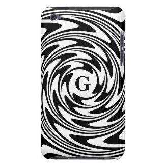 Black and White Monogram iPod Touch Cover