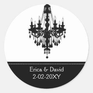black and white Monogram label