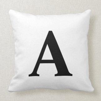 Black and White Monogram Stylish Pillow