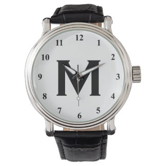 Black and white monogram watches | Customizable