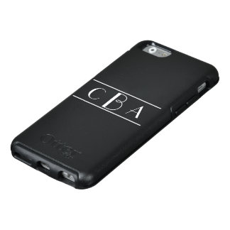 Black and White Monogrammed OtterBox iPhone 6/6s Case