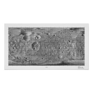 Black and White Moon of Mars Phobos Poster