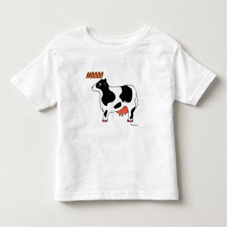Black and White MOOOO Cow Toddler Shirt