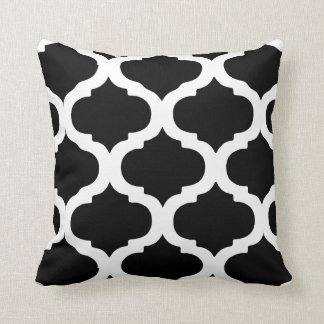 Black and White Moroccan Bold Pattern Throw Pillow