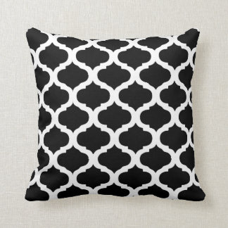 Black and White Moroccan Pattern Cushion