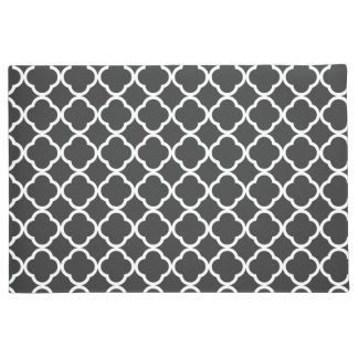black and white Moroccan pattern Doormat