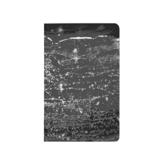 Black and White Mottled Wax Pocket Journal