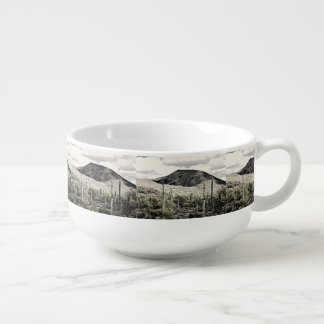 Black and White Mountain Soup Mug