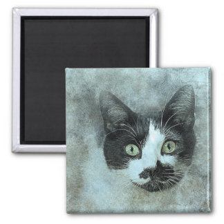 Black and White Mouser | Abstract | Watercolor Magnet