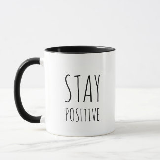 Black and white mug - STAY POSITIVE