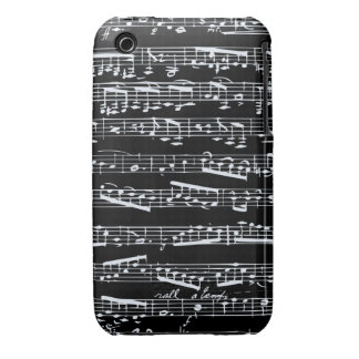 Black and white music notes iPhone 3 Case-Mate cases