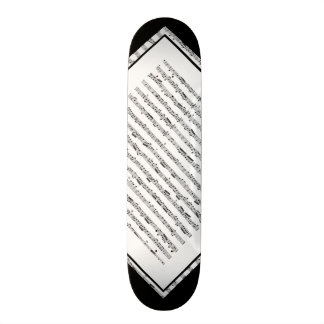 Black and White Music Pattern Customizable Deck 1 21.3 Cm Mini Skateboard Deck