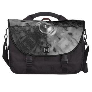 Black and white music speaker bags for laptop