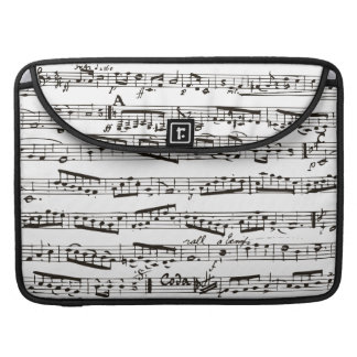 Black and white musical notes sleeves for MacBook pro