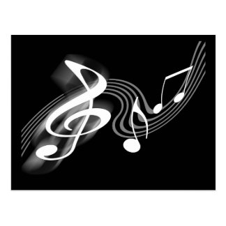 Black and White Musical Scale Postcard