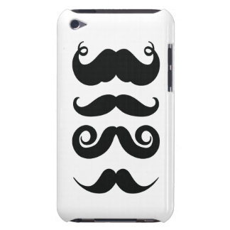 Black and White Mustaches iPod Touch Cover