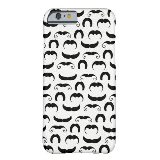 Black and White Mustaches Barely There iPhone 6 Case