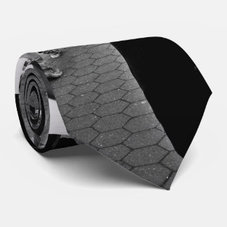 black and white mysterious trumpet player tie