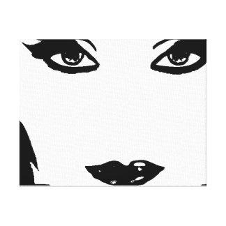 Black and White Mystikal Canvas Canvas Print