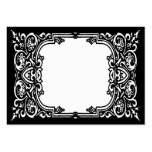 Black and White Name Place Cards