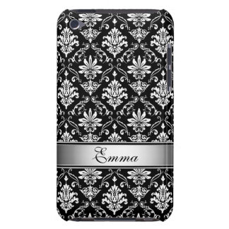 Black and White Named Damask iPod Touch Case-Mate Case