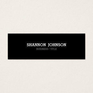 Black and White Narrow Mini business card