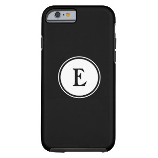 Black and white nautical monogram tough iPhone 6 case