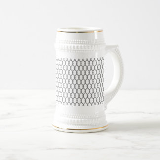 Black And White Nautical Rope Pattern Beer Stein