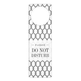 Black And White Nautical Rope Pattern Door Hanger