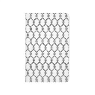 Black And White Nautical Rope Pattern Journal