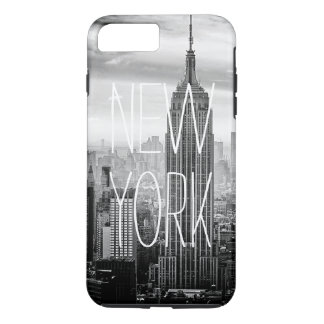 Black and White New York City Skyline Typography iPhone 7 Plus Case